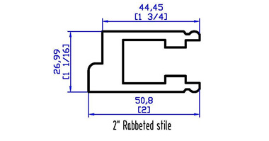 "2"" Rabbeted stile"